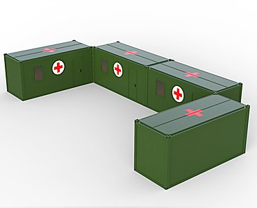 Field hospital container