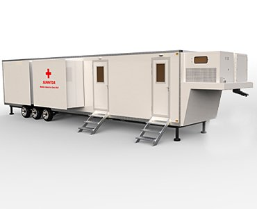 mobile infirmary intensive care unit