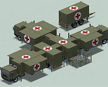 Portable field hospital