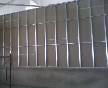 galvanized metal wall frame