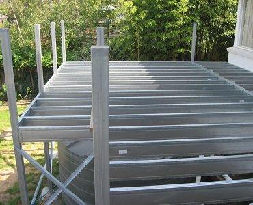 galvanized steel decking frame