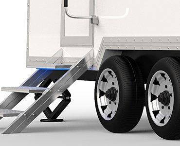 luxury porta potty trailers
