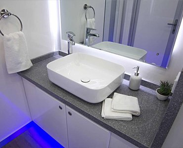 portable bathroom with shower