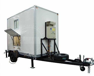 portable toilet and shower trailer