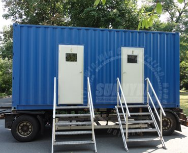 toilet shower container