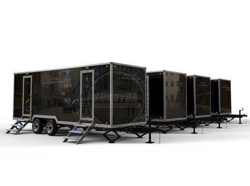 2 stall restroom trailer