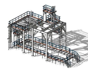 industrial steel platform design