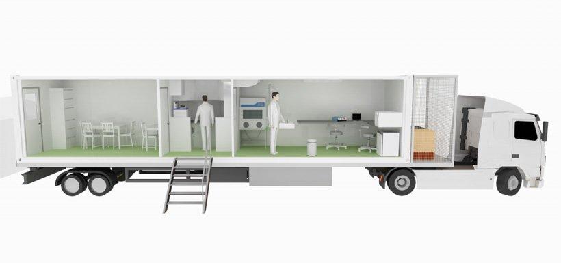 Medical trailer design