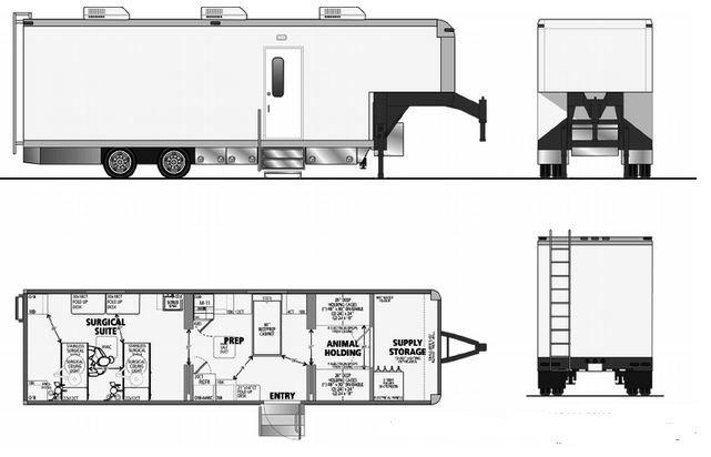 Mobile hospital floor layout