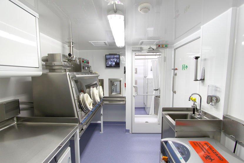 Inside mobile lab