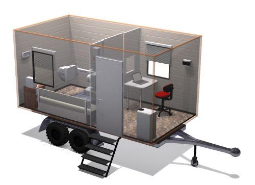 Mobile radiography trailer