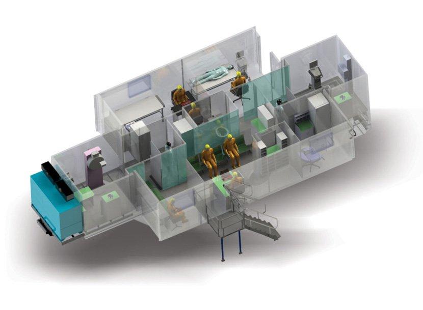 Mobile medical hospital