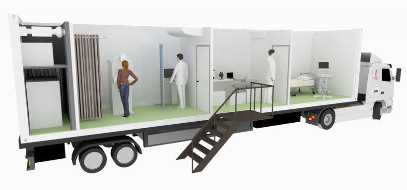 Long medical trailer