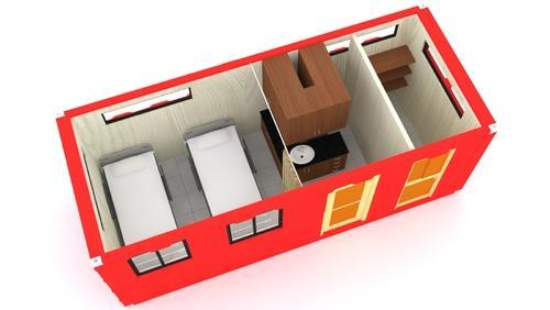 Container clinic layout