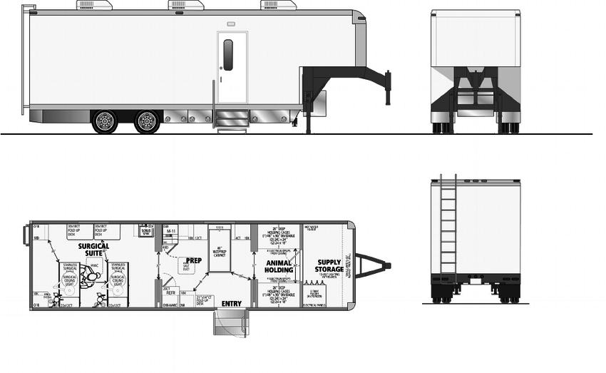 Mobile veterinary design
